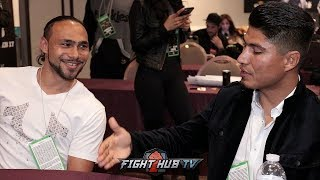 """MIKEY GARCIA TO KEITH THURMAN """"IF I MOVE UP TO 147, IM GOING FOR YOU!"""""""