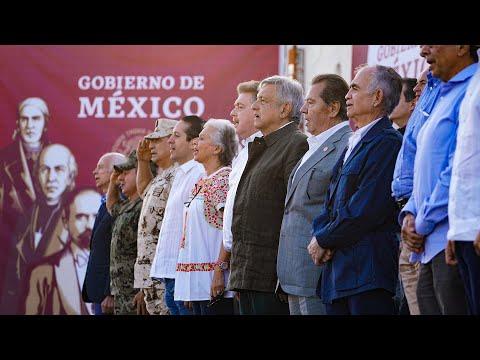 Acto en defensa de la dignidad nacional y en favor de la amistad con EEUU., desde Tijuana