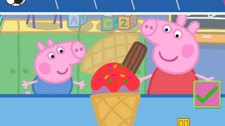 Peppa Pig Sports Day: Make Ice Cream Part 1 - iPad app demo for kids - Ellie