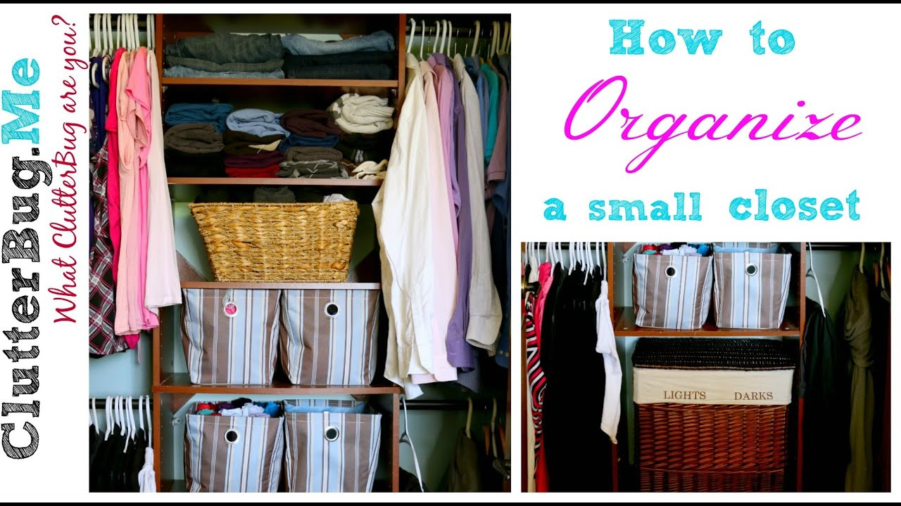 Attirant How To Organize A Small Closet   YouTube