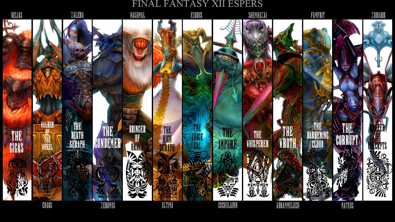 Final Fantasy XII HD Remaster All Quickenings Espers And