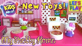Hello Kitty My Pretty Home Jollibee Kids Meal 2015 Unpacking New Toys