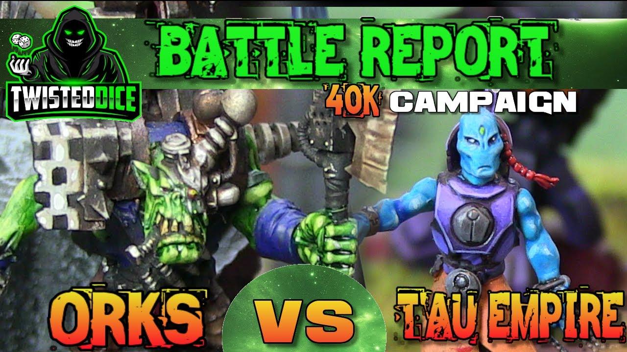 Orks Vs Tau Warhammer 40k Battle report 2000 points