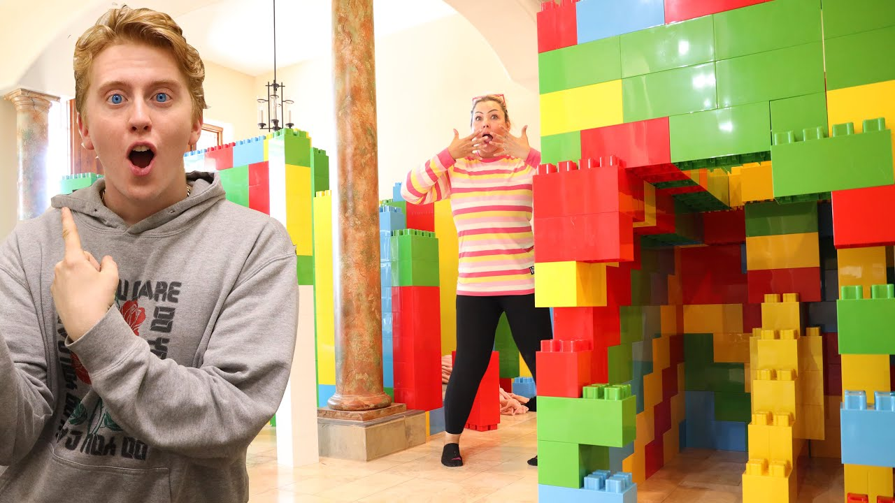 WHO CAN MAKE THE BEST GIANT LEGO HOUSE CHALLENGE!