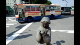 信南交通のバスの写真集 BGM 平浩二 バスストップ.