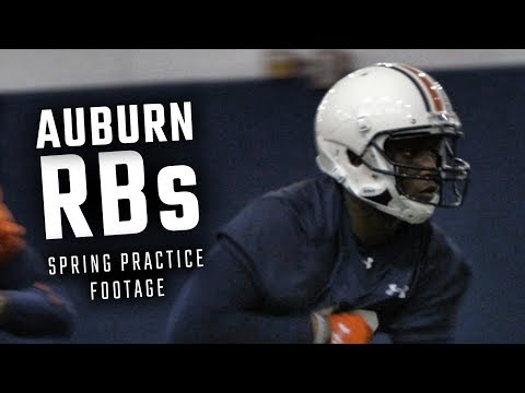 Watch Asa Martin And The Auburn Running Backs During The First Spring Practice Of 2018