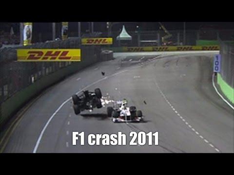F1 crash compilation 2011
