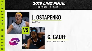 Jelena Ostapenko vs. Coco Gauff | 2019 Linz Final | WTA Highlights