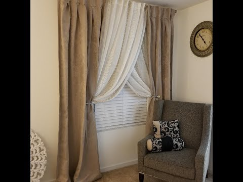 DIY Double Curtain Rod