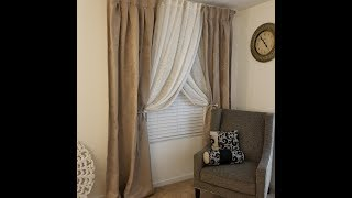 #Curtains #DIY CHEAPEST WAY TO HANG CURTAINS!