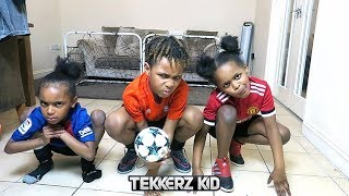TWIN VS TWIN | Teaching My Sisters How To Play Football! & SuperZings