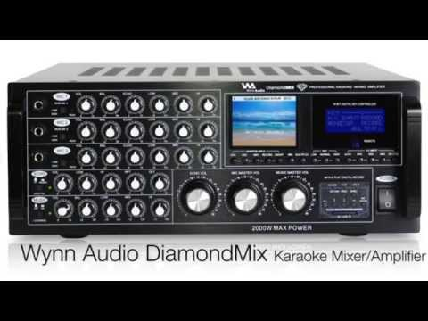 Wynn Audio Diamond Mix Professional Karaoke Mixer Amplifier