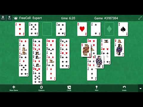 Microsoft Solitaire Collection - Freecell - Game #3187384