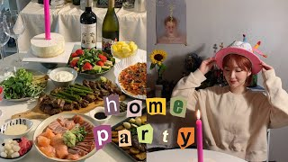 HOME PARTY VLOG? 5월생 모여라 매번 홈파…