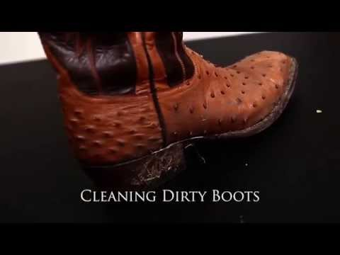 Cleaning Dirty Ostrich Boots