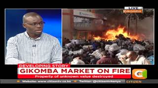 Gikomba market on fire, property destroyed [VIDEO]