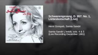 Schwanengesang, D. 957: No. 1, Liebesbotschaft (Live)