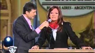 Martín Bossi como CFK en cadena Nacional