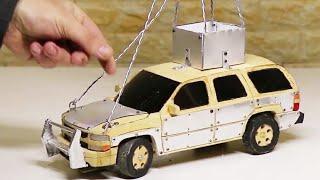 تاهو منحوتة من الخشب صنع سيارة ريموت Wood Carving RC Chevrolet Tahoe