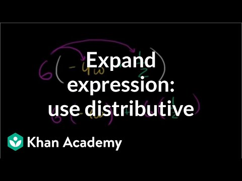 How to expand an expressions using the distributive property | Algebra I | Khan Academy