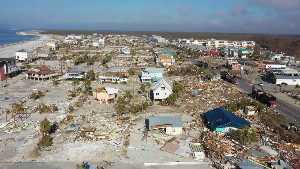 Drone Footage Captures Recovery Efforts in Mexico Beach, Florida