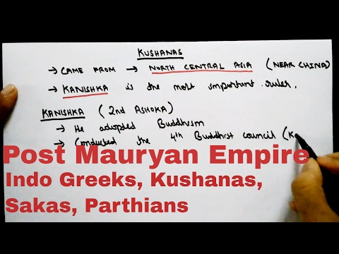 Post Mauryan Period: Indo Greeks, Sakas, Parthians, Kushanas | SSC CGL