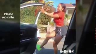 Kiki challenge ( in my feelings challenge ) ( keke challenge )  she did her thing