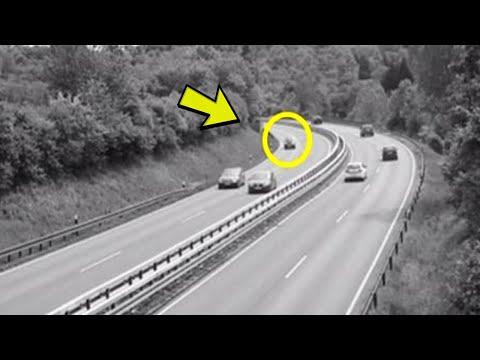 Bio je običan dan na autoputu:Ono što je nadzorna kamera snimila LEDI KRV u žilama !