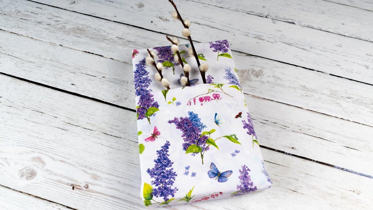 Kreative Geschenkverpackung Selber Basteln Diy Mit Geschenkpapier Und Weidenkätzchen