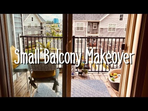 small balcony makeover (on a budget).