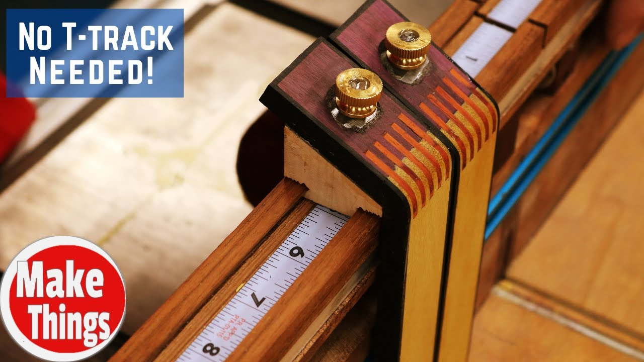 Sliding Dovetail Stop Block System // No T-track 1 Power Tool Build