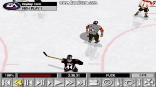 NHL 99 PC - nice deflection goal