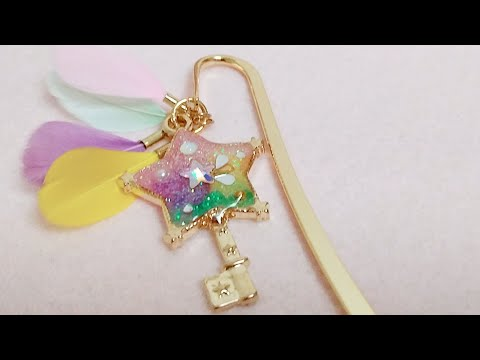 [Resin Art] DIY Twinkle Stick -inspired Bookmark📒🌠 | Watch me Resin