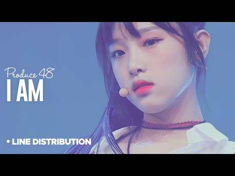 PRODUCE 48「I AM」Line Distribution