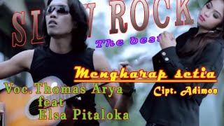 Gambar cover Lagunya cocok buat yang lagu kangen LRD l thomas arya feat  elsa pitaloka - mengharap setia (Lyrics)