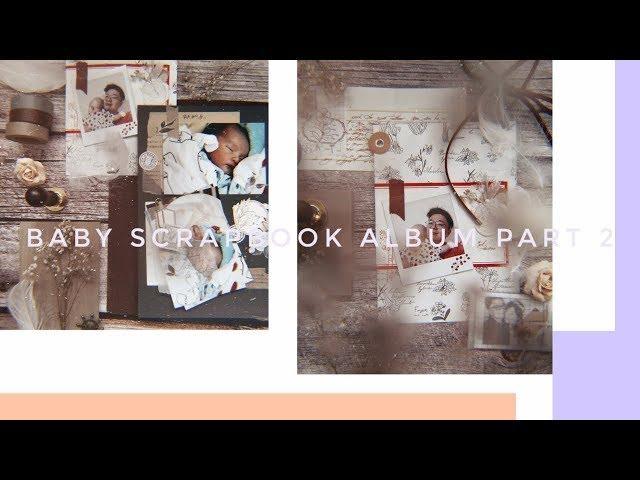 Baby Scrapbook Album 02   Babys First Year     Lollalane