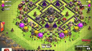 Clash of Clans | 3 Star Challenge GoWipe Max TH9 with half spells