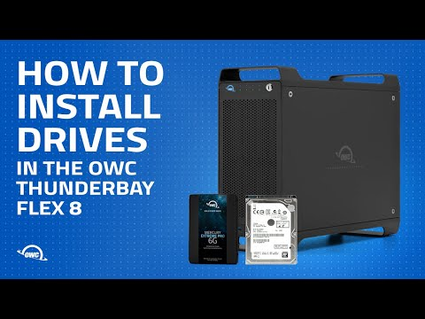 How to Install Drives in the OWC ThunderBay Flex 8