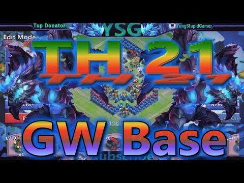 Castle Clash Town Hall 21 Guild Wars Base Speed Build