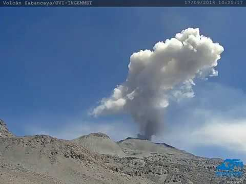 17/9/2018 WITA - Mt Sabancaya TimeLapse