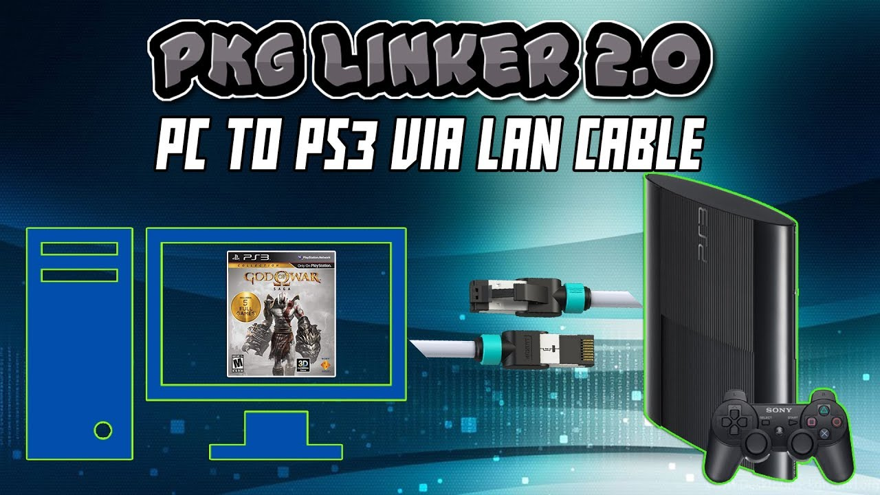 PS3 PKG Linker V2 0 - Transfer PS3 Games PC to PS3 Via LAN Cable