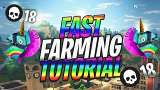 Fortnite Fast Farming Tutorial (Farm 5x Faster) Pickaxe Glitch!