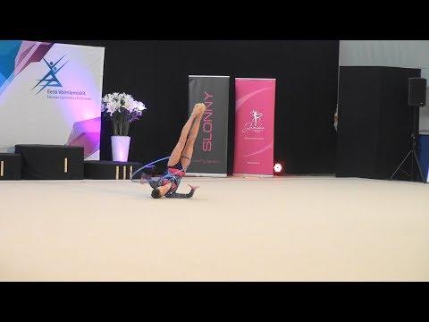 Beljajeva Adelina (VK Elegance) - Hoop |  Estonian RG Championships 2018 | Junior | Final