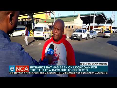 Richards Bay has been on lockdown for the past few days
