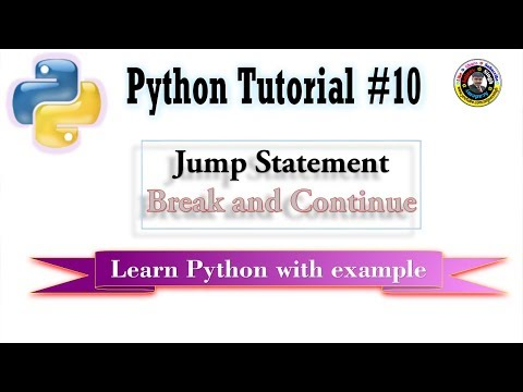 Jump Statement in Python   Python Tutorial #10   break and continue with loop else thumbnail