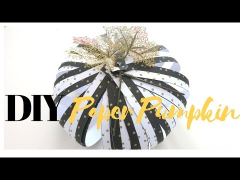 DIY Autumn Paper Pumpkin