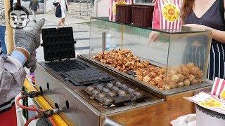 경복궁 동쪽 주차장앞 외국인이 많이먹는 땅콩과자, 호두…