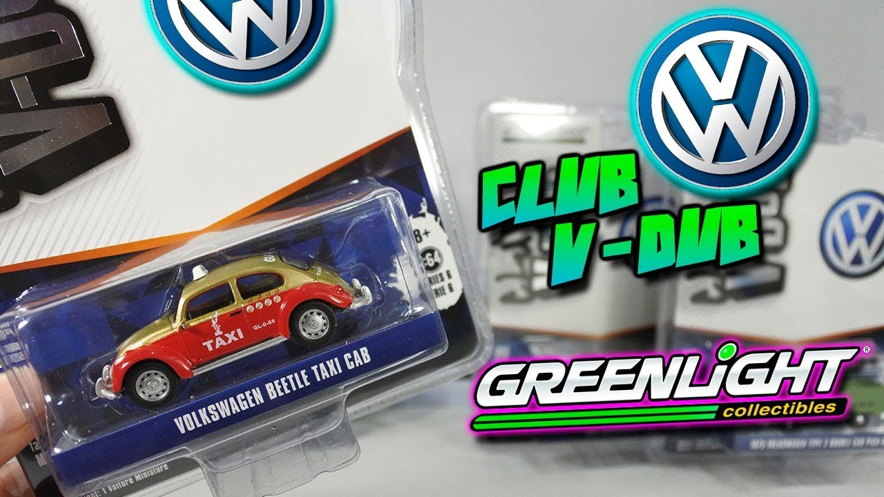 GreenLight 2018 club V-Dub serie 6 volkswagen escarabajo taxi oro