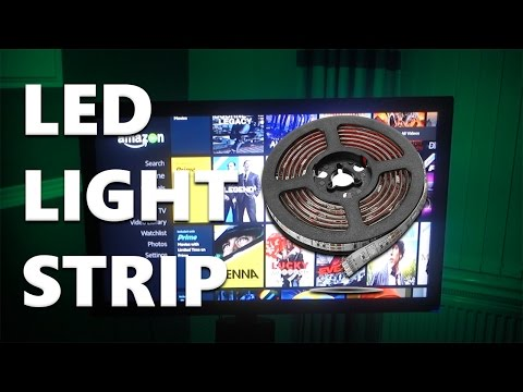 How to Apply a USB LED Light Strip to Your Television