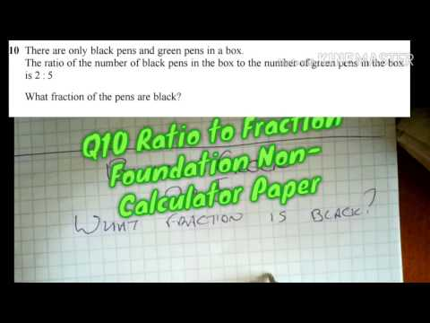 Q10 Ratio to Fraction Foundation Non-Calculator Paper Sample Assessment Material Two